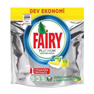 قرص ماشین ظرفشویی فیری پلاتینیوم Fairy Platinum بسته 115 عددی